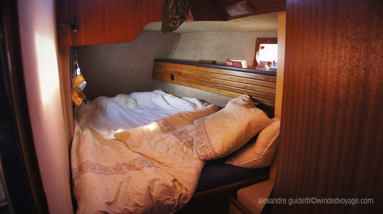 Interior of Galopin, Port Aft Cabin