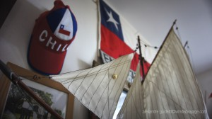 Chilean flag Captain's quarters