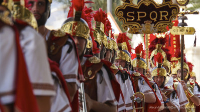 roman Soldiers on parade