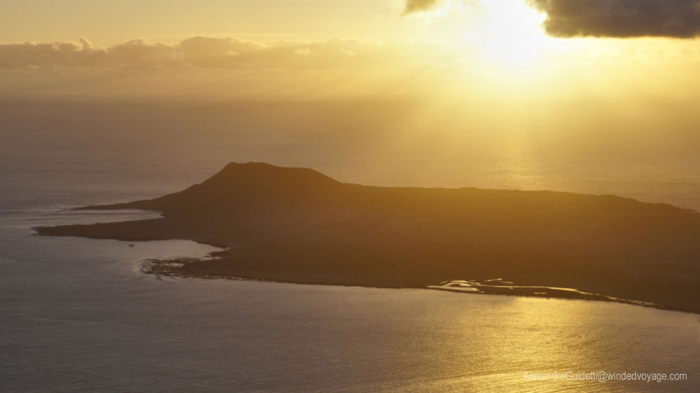 Graciosa at sunset