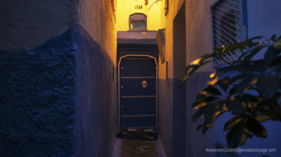 Blue entrance tangiers